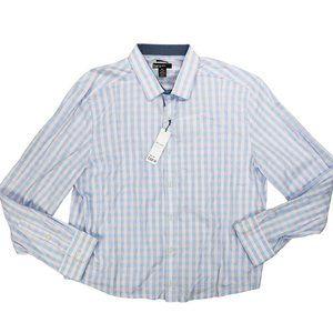 Bar III Checkered Long Sleeve Button Down XL NWT